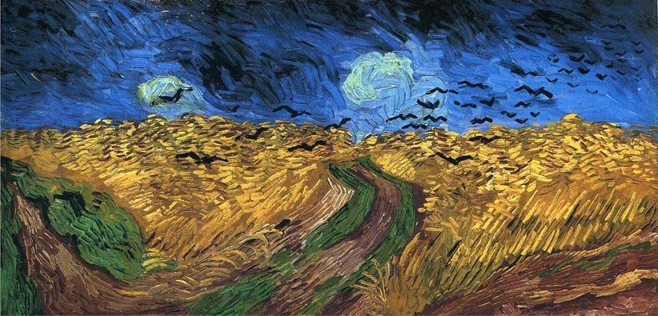 10. Filed and crows, Vincent Van Gogh