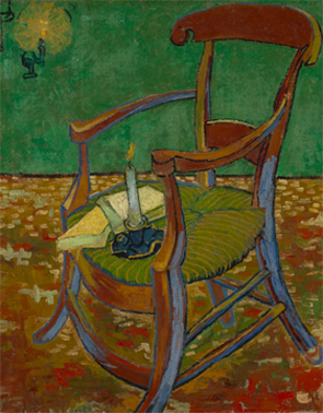 15. Gauguin's Chair, Vincent van Gogh