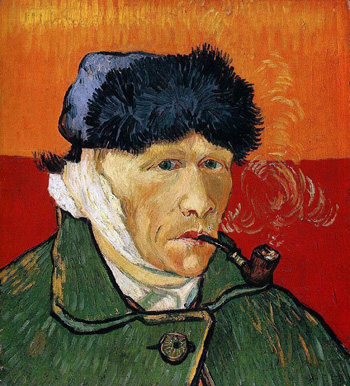 9. Self Potrait, Vincent Van Gogh