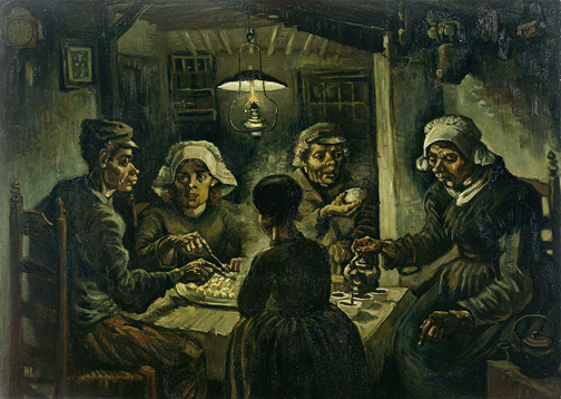 P15. The potatoo eaters, Vincent van Gogh
