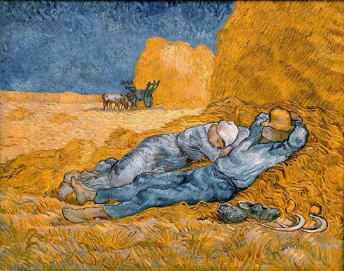 P16. Noon rest from work, Vincent van Gogh