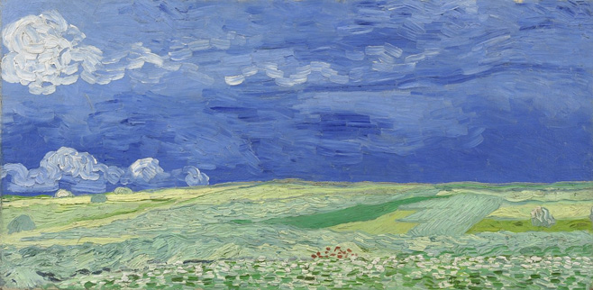 P7. Wheatfields under thundercloud, Vincent van Gogh