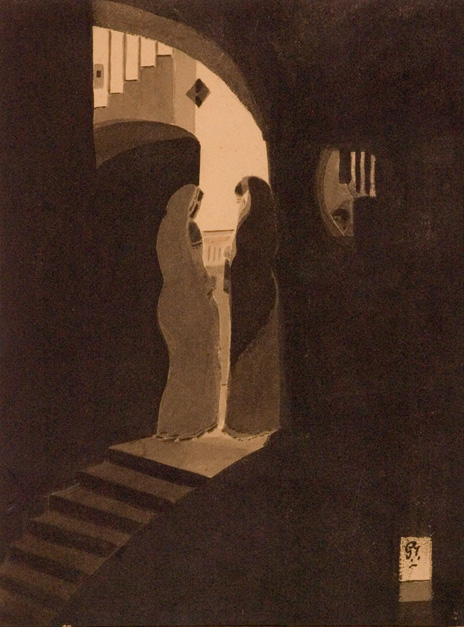 Gaganendranath Tagore_1_2, Meeting at the Staircase