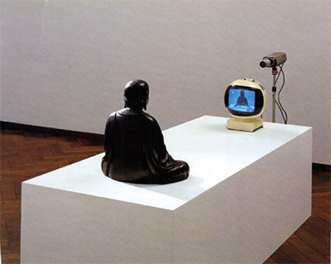 deja vu, buddah on tv, 1974, nam june paik